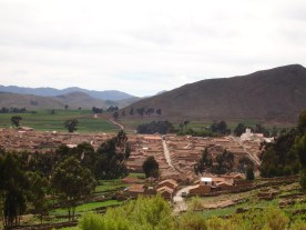 View of the town of Tarabuco